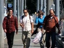 Les Corses: Phil, Julien, Marie-Paule et Jean-Philippe