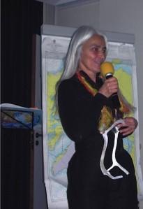 Karin Huet lors d'une rencontre du Manguier à Cassisle 06/02/2016