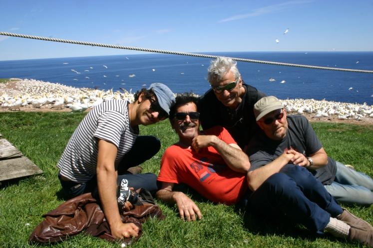 Le boys band à l'île de Bonnaventure (ou avec lunettes ?)