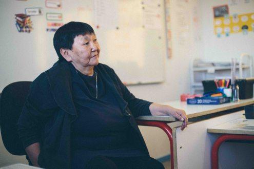 Utsi, directrice de l'école et responsable es évènements culturels
