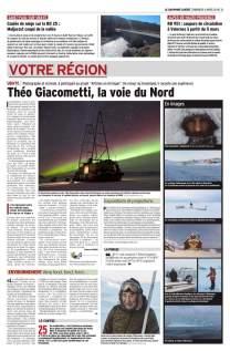 Theo Giacometti, la voie du Nord (Le Dauphiné Libéré du 4 mars 2018)