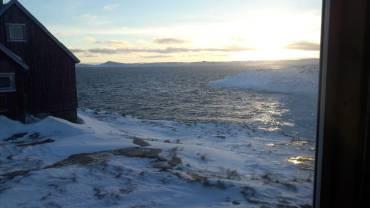 Ce matin, coup de vent de Nord-Est, la banquise craque ...