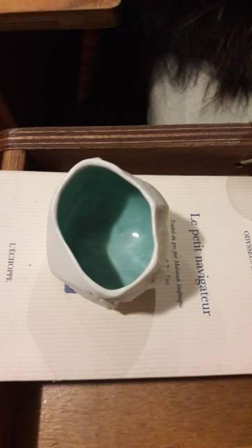 Cadeau de Cécile Fouillade au Manguier : une porcelaine arctique.