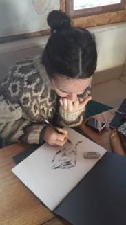Cléa au dessin